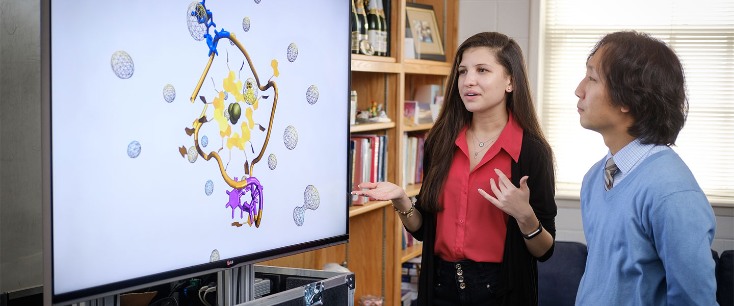 Wake Forest junior biophysics major discusses her research into creating an drug that targets cancer DNA with advisor Samuel Cho