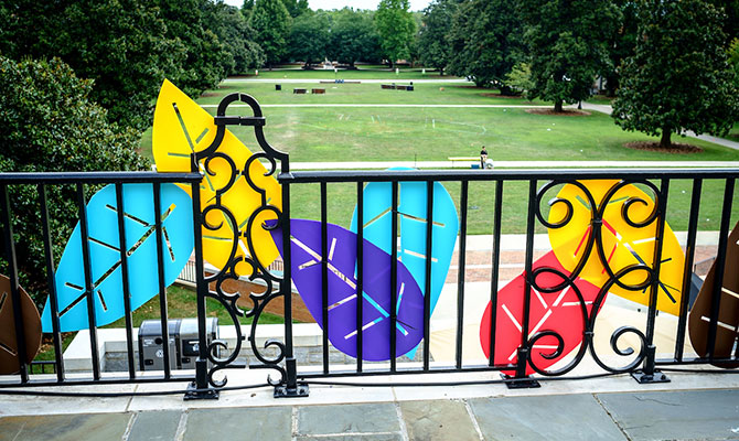 The Wake Forest campus is decorated for the Thrive event