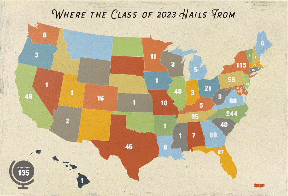 Class of 2023 Demographic Map