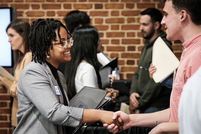 Wake Forest students meet recruiters at the annual career fair