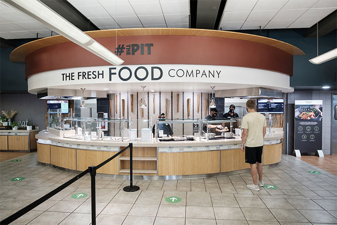 "The Reynolda Fresh Food Company, affectionately known on campus as ""The Pit"