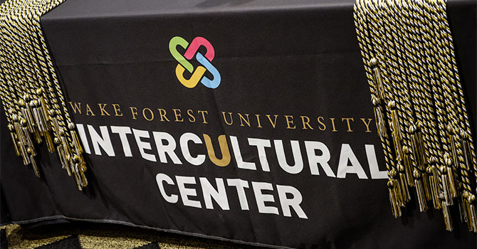 Wake Forest holds an Intercultural graduation ceremony in the Benson Center
