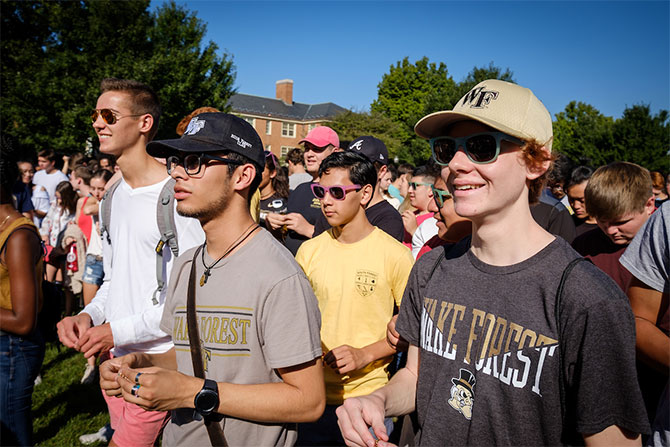 First-year students at Wake Forest University