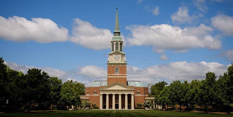 Wake Chapel on the campus of Wake Forest University