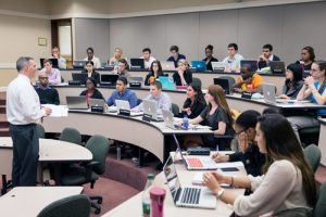 Charlotte Center classroom and students