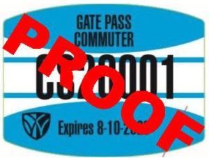 Commuter Gate Pass example