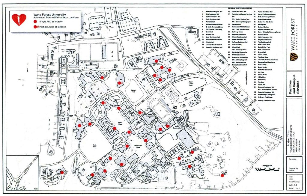 AED Locations Reynolda Campus