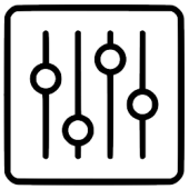 control sliders icon