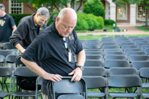 scott frazier picking up chairs