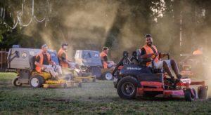 turf team mowing