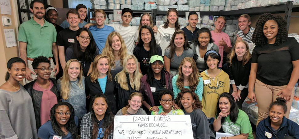Dash Corps at Diaper Bank