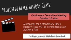 Proposal for Black History Class at WSFCS School Board Curriculum Meeting