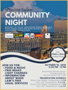 Winston-Salem Community Night