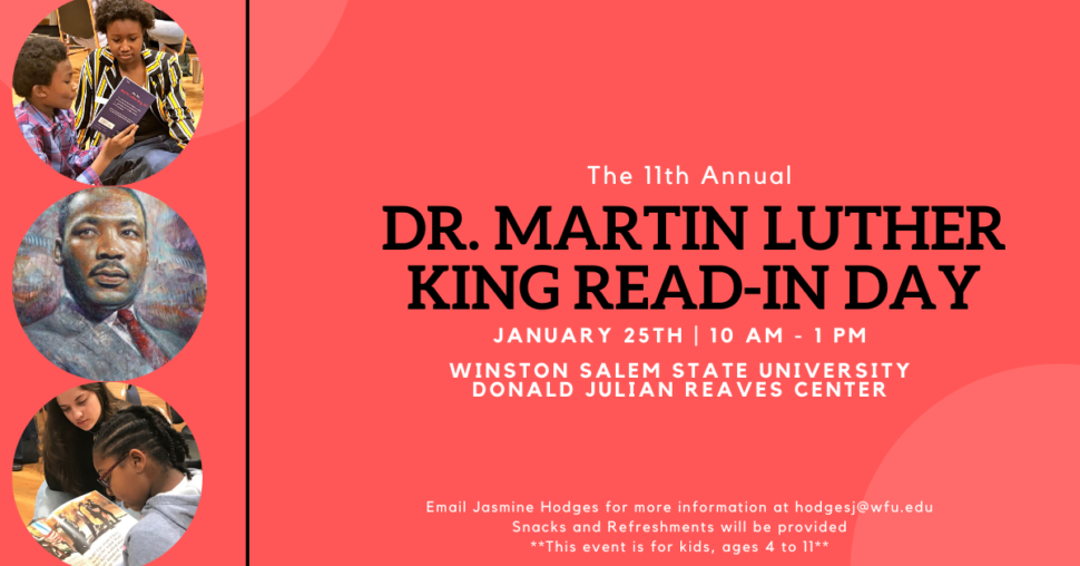 2020 MLK Read-In Day Flyer