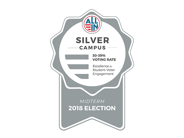 All In Democracy Challenge - Silver Seal 2018 Midterm Election Logo