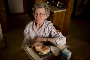 Community Member participating in Senior Services Meals on Wheels Program