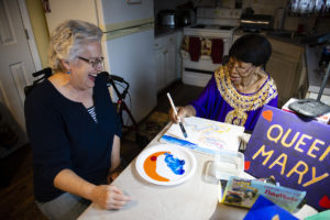 A one-on-one in-home art lessons with the Connections Program provided by Senior Services