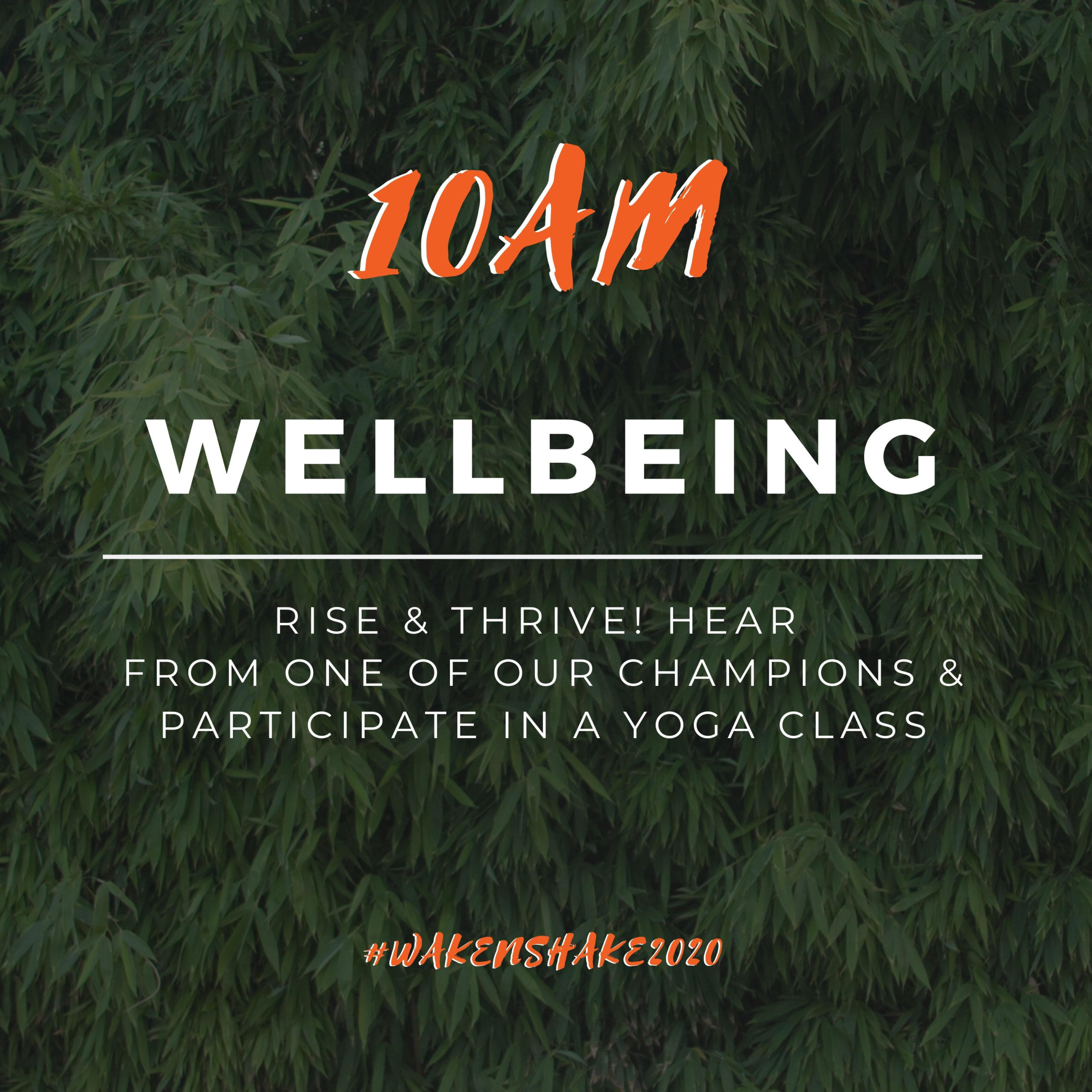 10 am-wellbeing hour