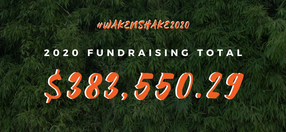 WAKE 'N SHAKE fundraising total
