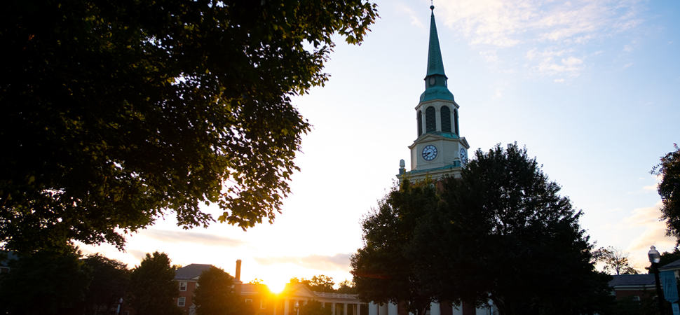 Sunset on Campus with Wait Chapel