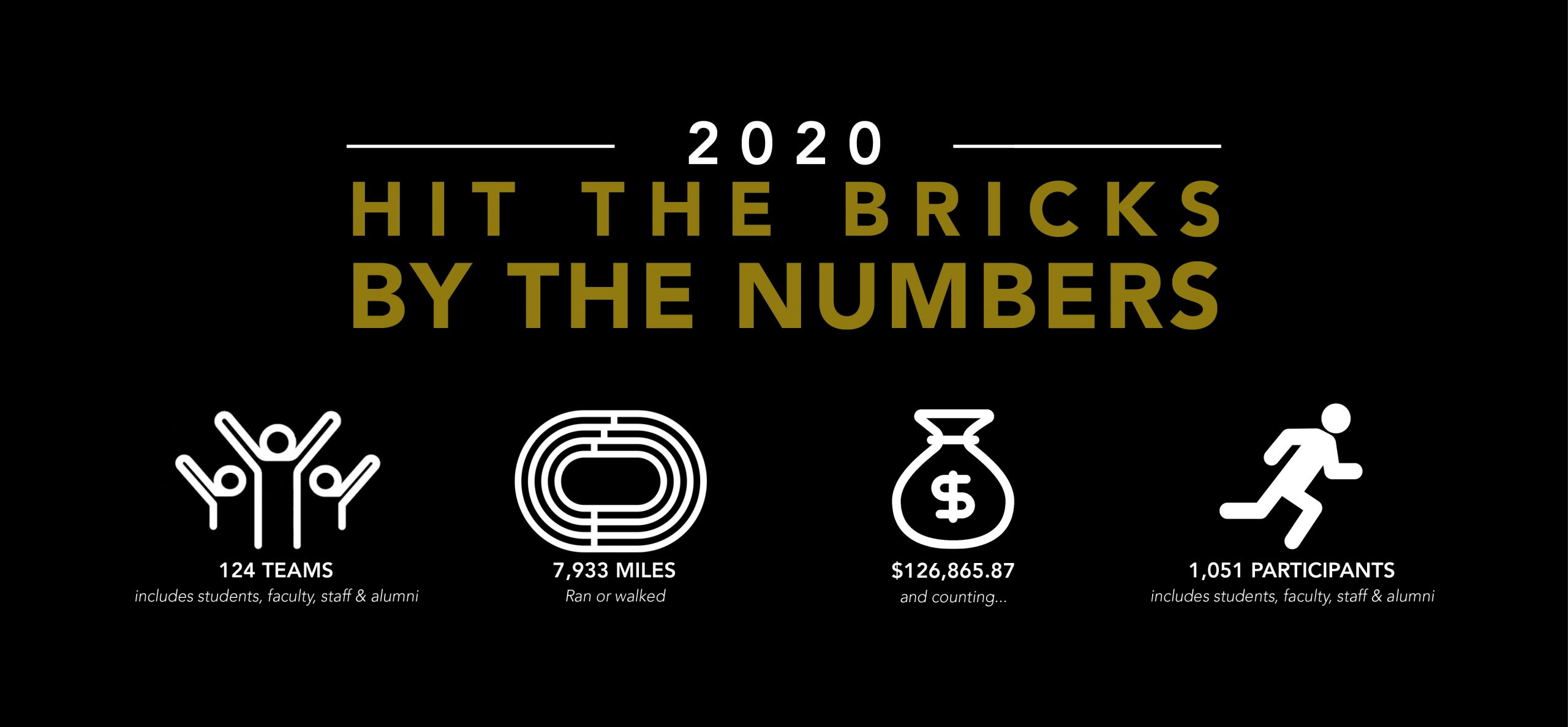 2020 Hit The Bricks By The Numbers
