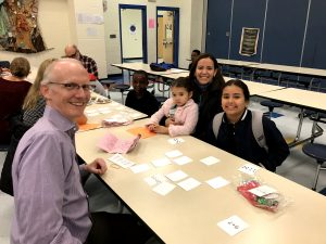 Wake Forest Alum Ben Rose during an in-person Heart Math Tutoring session prior to the start of the COVID-19 Pandemic.