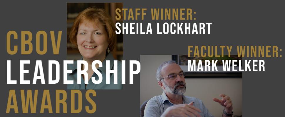CBOV Leadership Award Winners Sheila Lockhart and Mark Welker