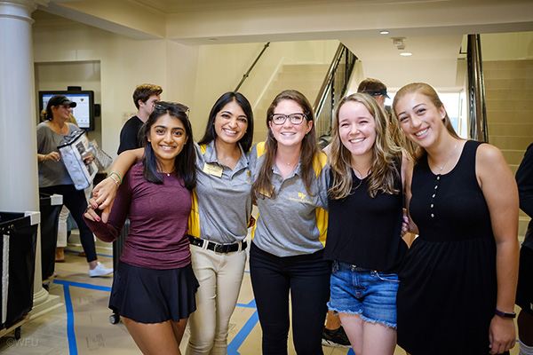 WFU RAs during Move In Day 2017
