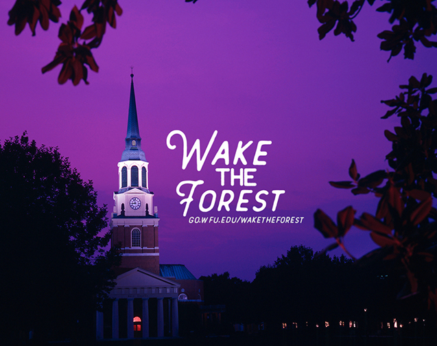 Wake the Forest is a program for first year students at WFU, which takes place during the first six weeks of the fall semester