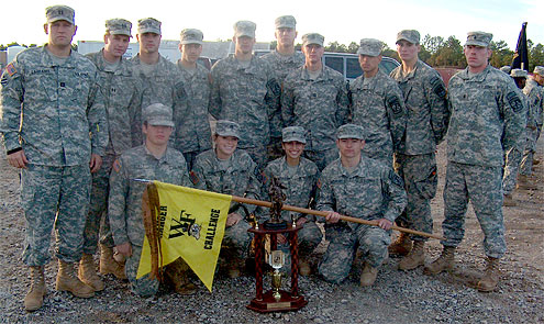 The Wake Forest Army ROTC Demon Deacon Battalion.