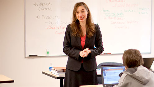 Associate Professor of Sociology Ana Wahl uses census data in the classroom and in her research.