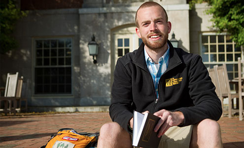 A.J. Warr received this year's Christman Award, Wake Forest's highest student award for service.