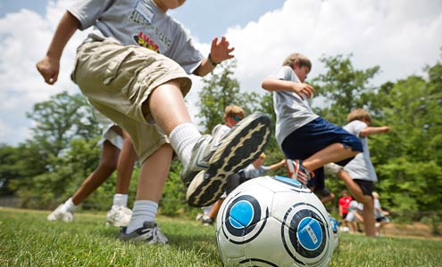 The All Sports Camp, which has been held on campus every summer for the last 50 years, introduces children to about 20 sports.