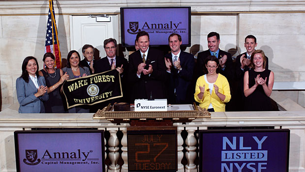 Alumni, students, parents and friends converged at the New York Stock Exchange.