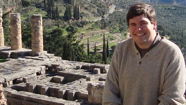 Philosophy professor Christian Miller in Greece