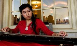 Yuhan Gao plays the gu qin.