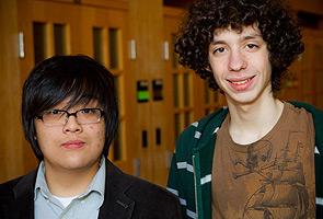 Freshmen Richard Min and Kevin Hirn