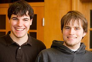 Sophomores Ian Miller and Ken Bailey