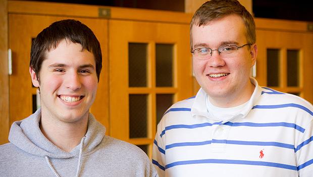 Juniors Michael Carlotti (left) and Andrew McCarty