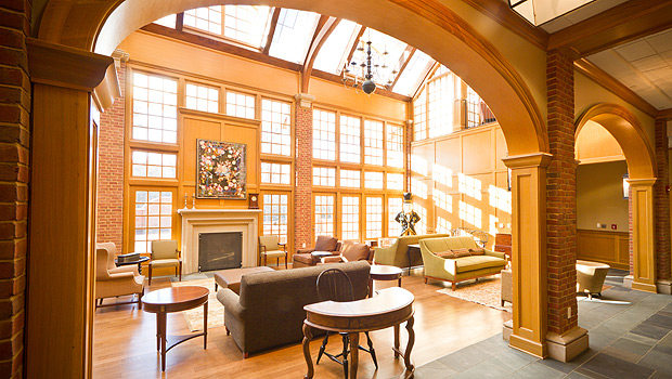 The conservatory in the new Admissions Welcome Center