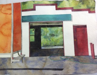 Beth Sutherland - Garage, 2000, watercolor