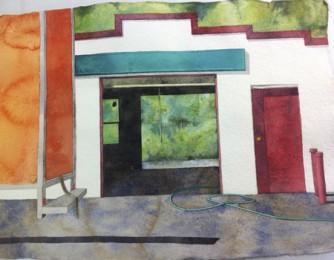 Beth Sutherland - Garage, 2000, watercolor
