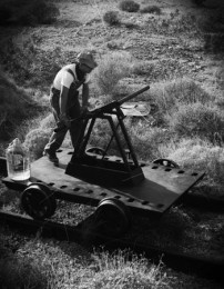 Joel Tauber - Pumping The Handcar, lightjet print, 2010