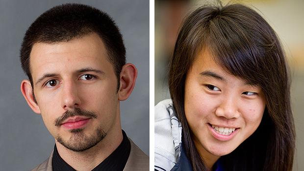 Tyler Pruitt (left) and Rae-Yao Lee