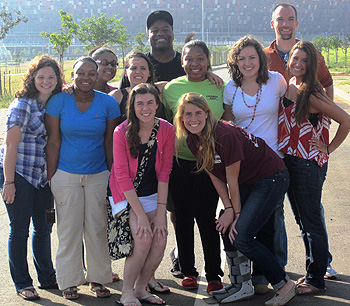 Wake Forest students in South Africa