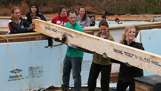 Schools of Business students work for Habitat for Humanity.