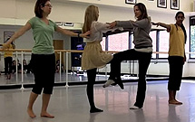 Students dance