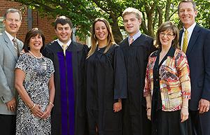 From left, Gerald, Stephanie, Davis, and Emily Roach, and Curtis, Karen and John Vann