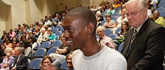 Darius Williams asks a question.