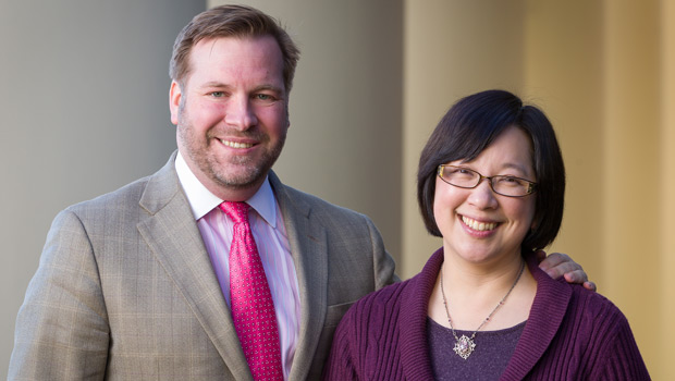 Wade Murphy ('00) and Mary Foskett, professor of religion and director of the Humanities Institute